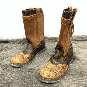 Ariat Baby Phat Envy Western Boots Emboss Stud 9B